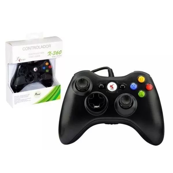 Controle Sem Fio Xbox 360 Joystick Knup Kp-5122 Preto
