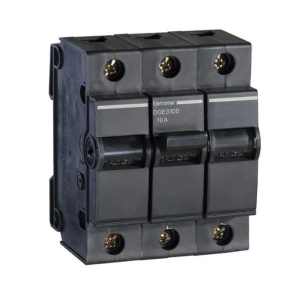 Disjuntor Nema Tripolar 10A Eletromar