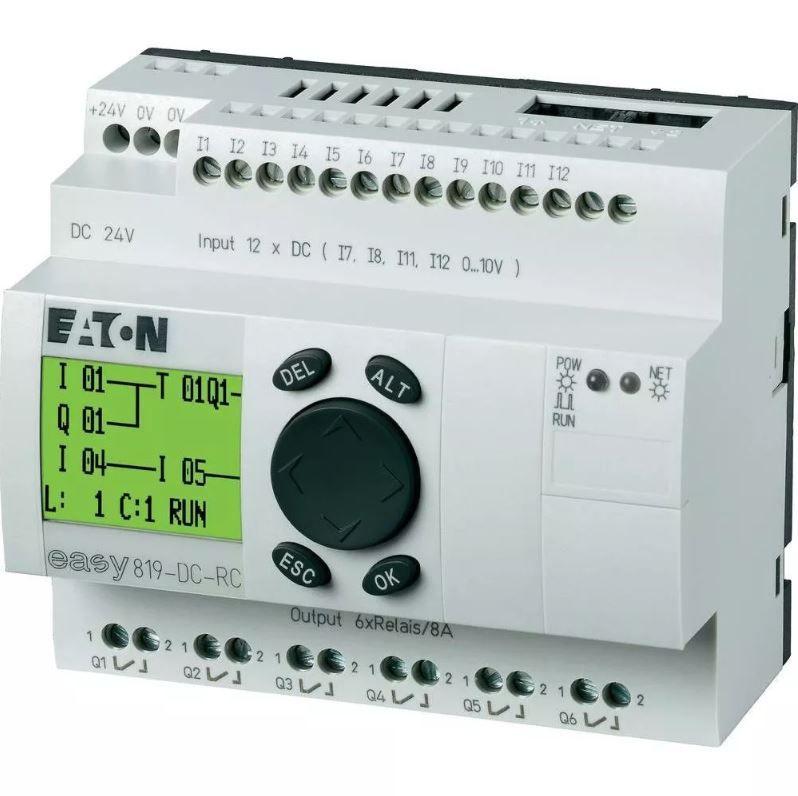 Easy819-dc-rc Clp Eaton Moeller Controlador Logico Prog