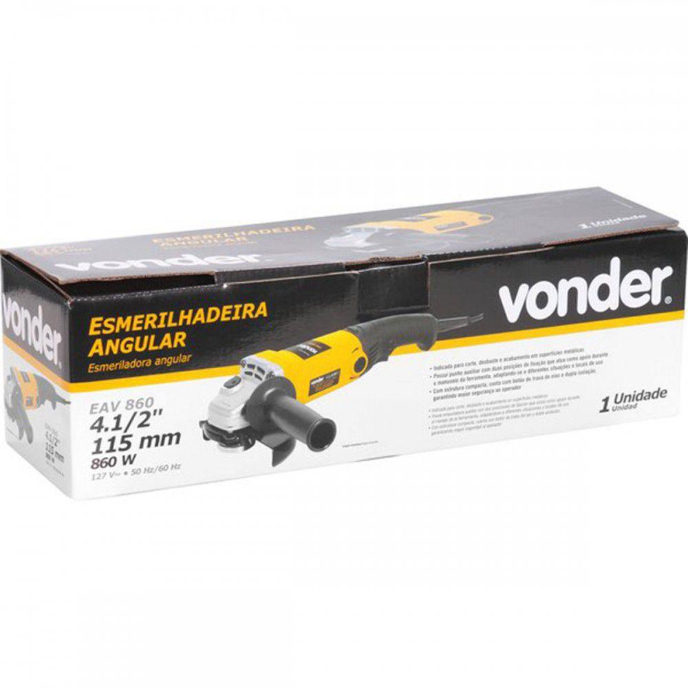 """ESMERILHADEIRA 4.1/2"""" 860W EAV860 110V  Vonder"""