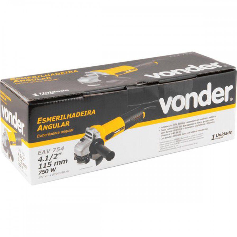 ESMERILHADEIRA ANGULAR  4.1/2 750W VONDER