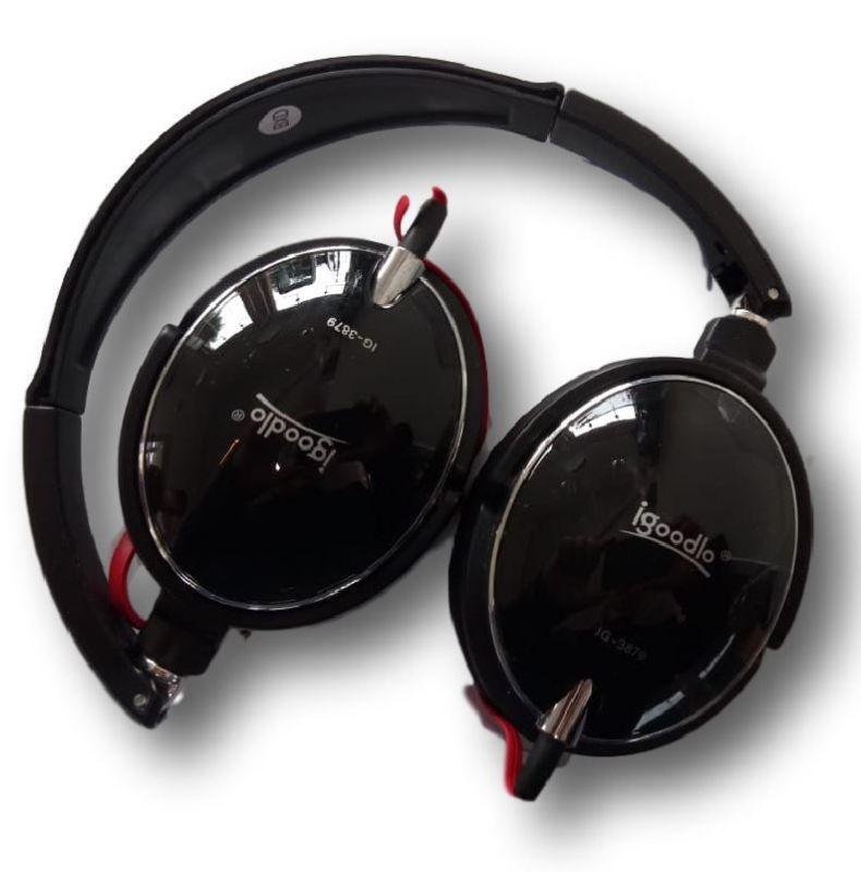 Fone De Ouvido Headset Confortavel Ig-3879 Preto Igoodlo