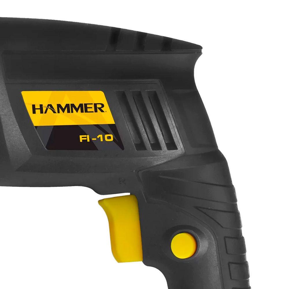 Furadeira de Impacto Serviço Residencial 3/8 420W Hammer 127V