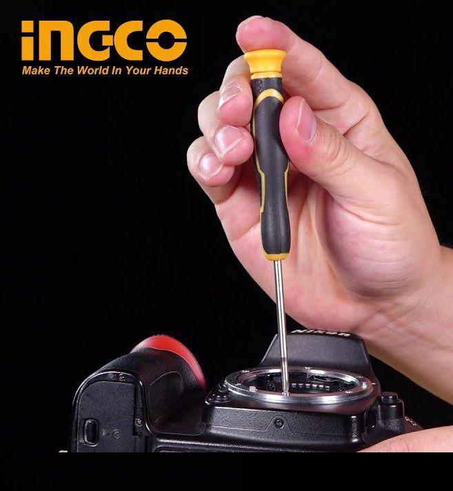 Jogo De Chaves De Fenda Philips Precisão Profissional Industrial C/ 18 Peças INGCO