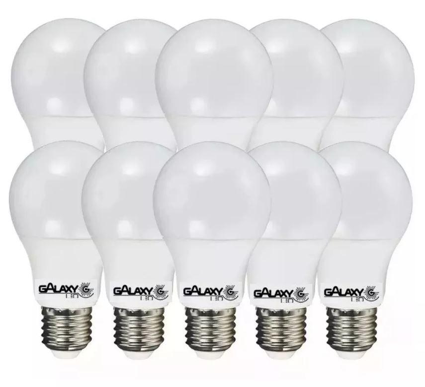 Kit 10 Lampada Led Bulbo 9w Bivolt Soquete E27 A60 Galaxy