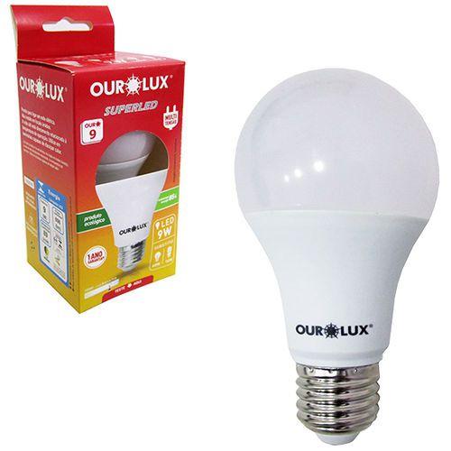 KIT 10 LAMPADAS LED 9W OUROLUX