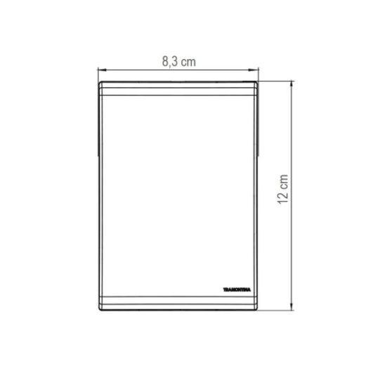 Kit 10 Unidades Tomada Simples LIZ Branco Tramontina 10A/250V
