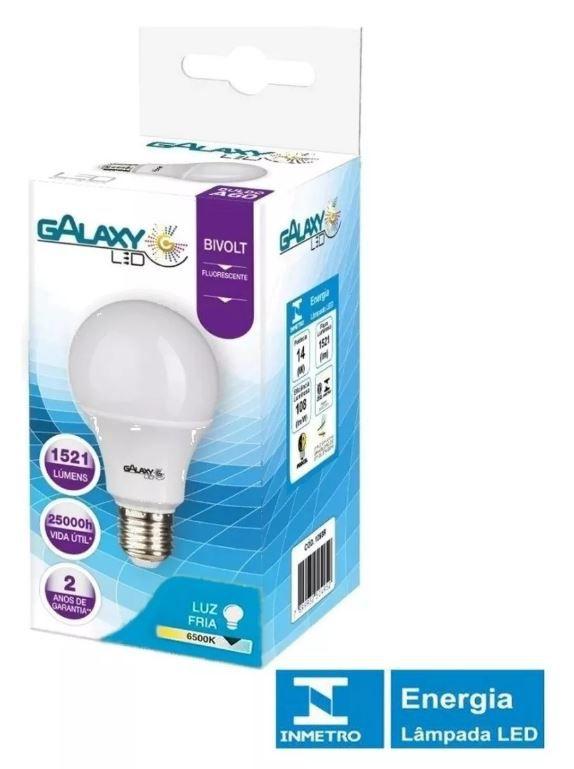 Kit 20 Lampada Led Bulbo 9w Bivolt Soquete E27 A60 Galaxy