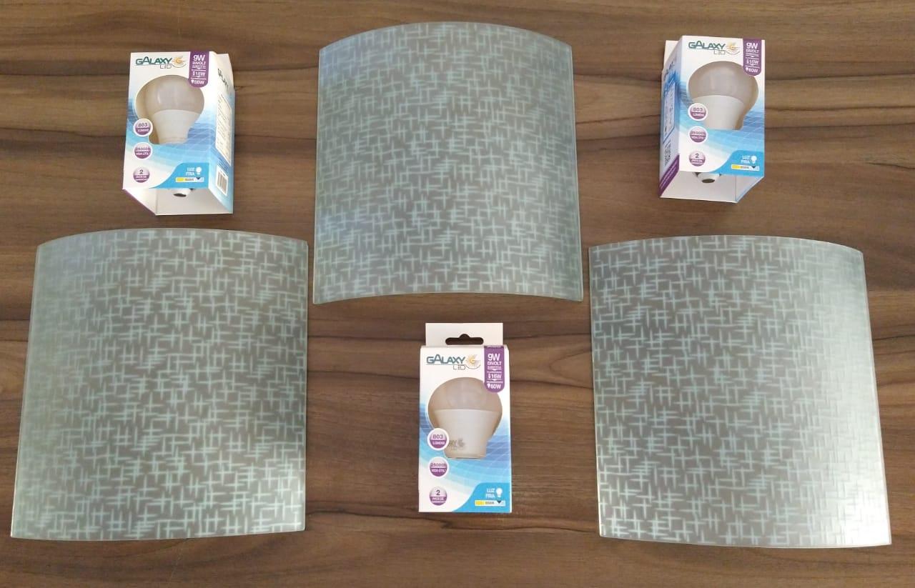 KIT 3 ARANDELAS BLITZ XDD-192 + 3 LAMPADAS