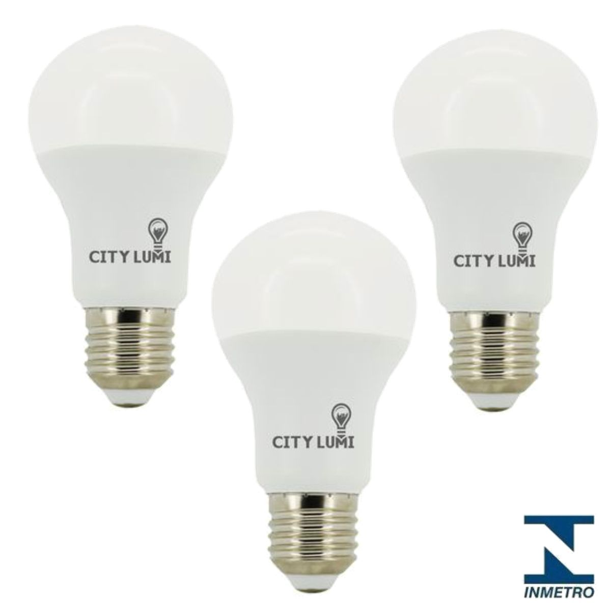 Kit 3 Lampada LED Bulbo Autodimerizavel 3 Tons 12W City Lumi