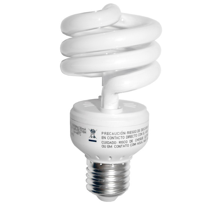 Kit 3 Lâmpadas Fluorescentes Espiral Basic GE - 14W 127V