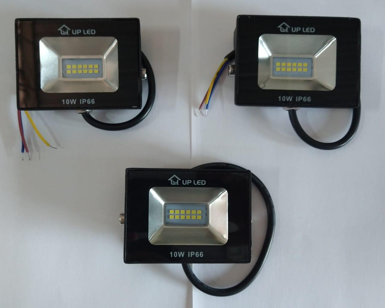 KIT 3 REFLETORES LED SMD 10W 6500K UPLED