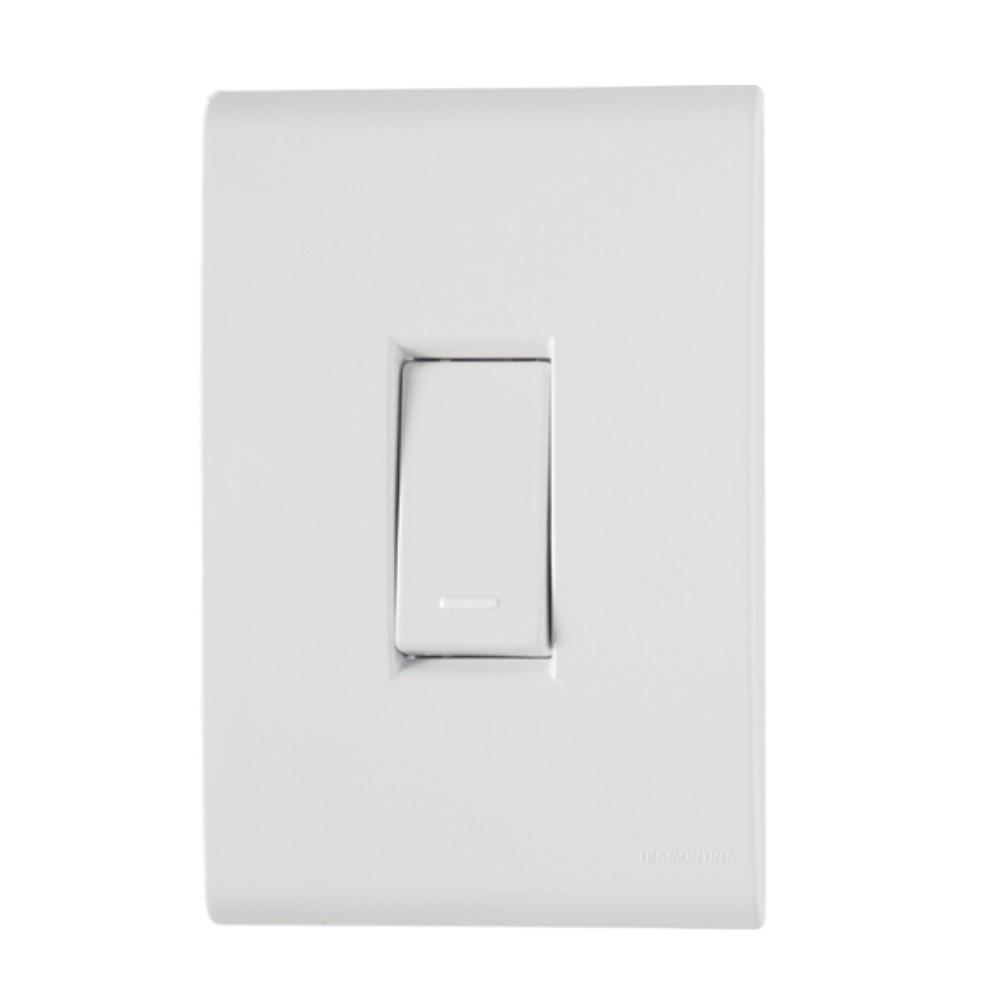 Kit 5 Placas Interruptor Simples + 10 Placas Tomada - 10A LIZ Branco Tramontina