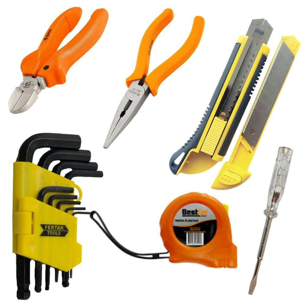 Kit de Ferramentas Eletricista Manutenção Profissional 74 Peças