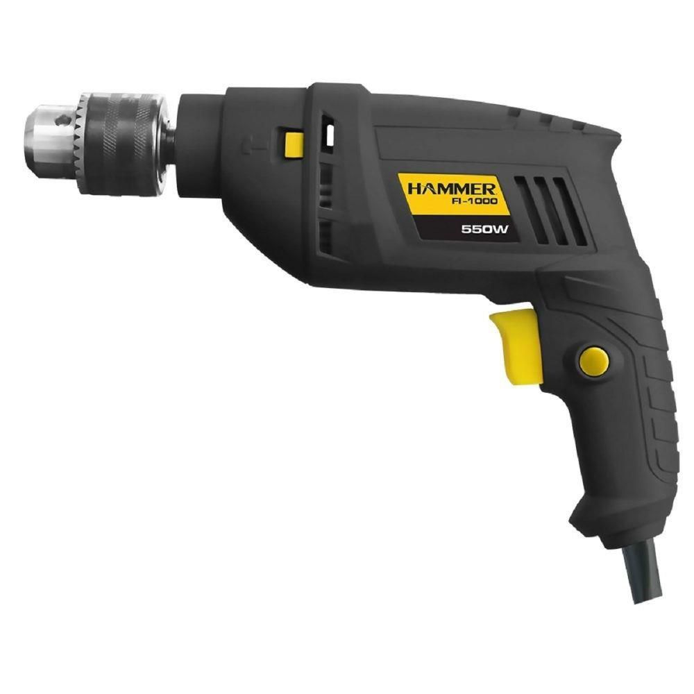 Kit Furadeira 550w + Esmerilhadeira Angular 710w Hammer 127V