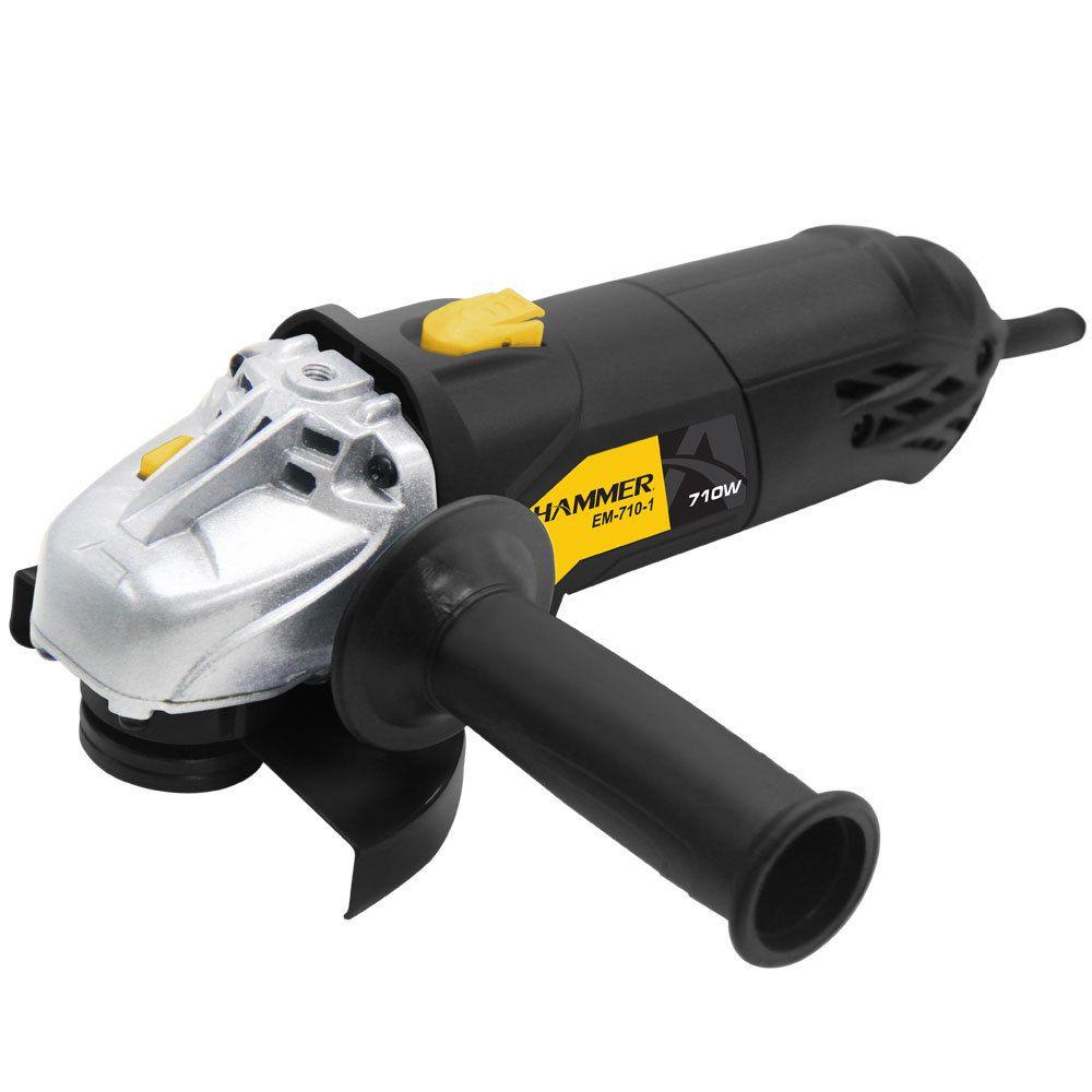 Kit Furadeira 550w + Esmerilhadeira Angular 710w + Serra Tico Tico 500w Hammer 127V