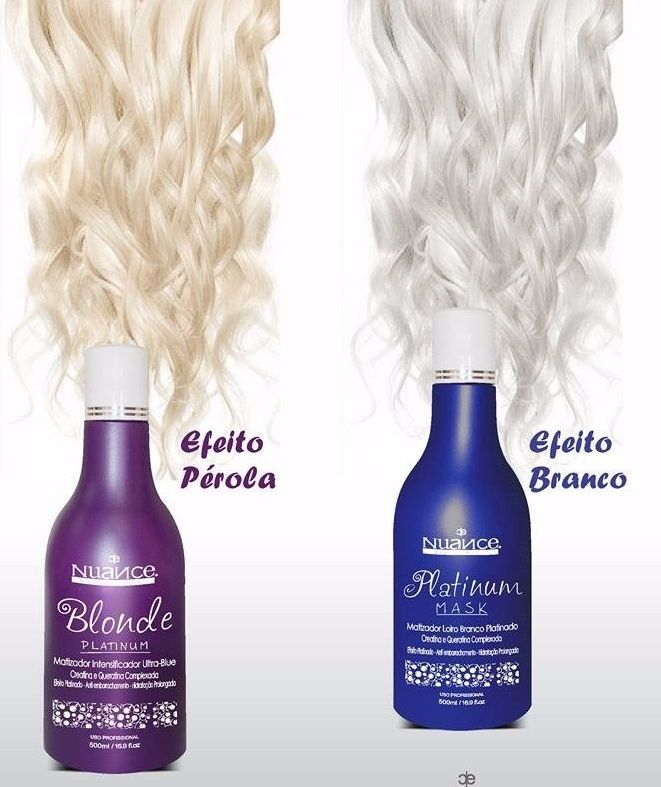 KIT MATIZADOR BLONDE PLATINUM + PLATINUM MASK + PÓ DESCOLORANTE + OX 30 NUANCE