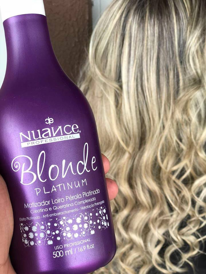 KIT MATIZADOR BLONDE PLATINUM + PLATINUM MASK + PÓ DESCOLORANTE + OX 40 NUANCE
