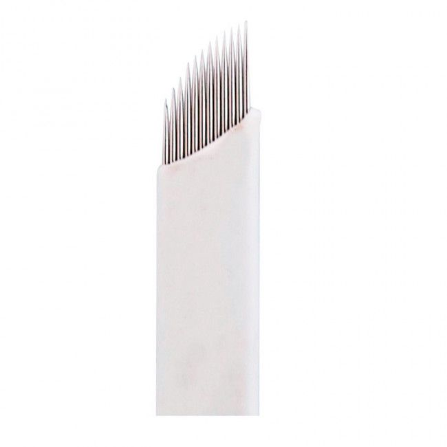 Laminas Tebori 12 Pontas Flex 0.25mm Microblading Kit 20 Unidades