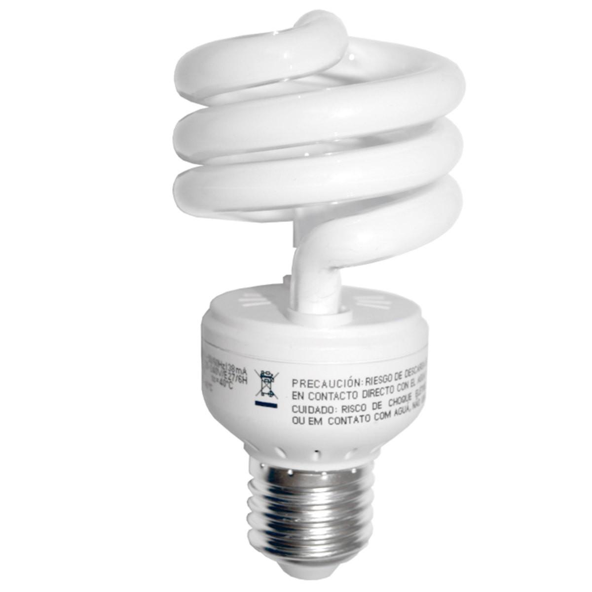 Lâmpada Fluorescente Compacta Espiral Basic GE - 18W 127V