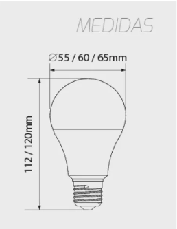 LAMPADA LED BULBO 9W Luz Branca GALAXY