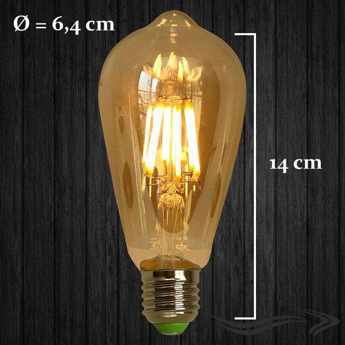 Lampada Retro Vintage Led St64 Squirrel Cage 4w Bivolt