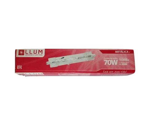 Lâmpada Metálica Palito R7s LLUM - 70W