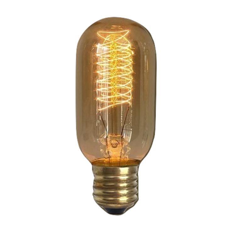 Lampada Retro Carbono Spiral Vintage 40w 127v