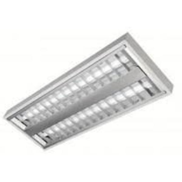 Luminária Comercial 2x14w De Sobrepor P/tubular T5 com lâmpadas Fluor 14w 3000K Lumi-lar