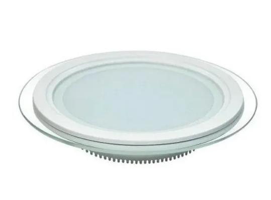 Luminária de Vidro Redonda de Embutir 3 cores MBLED - 18W