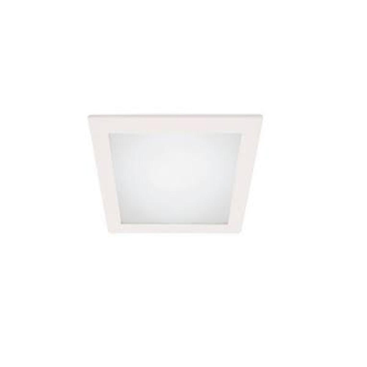 Luminária Led de Embutir Branca Solution Led Square LLUM - 127V 10W