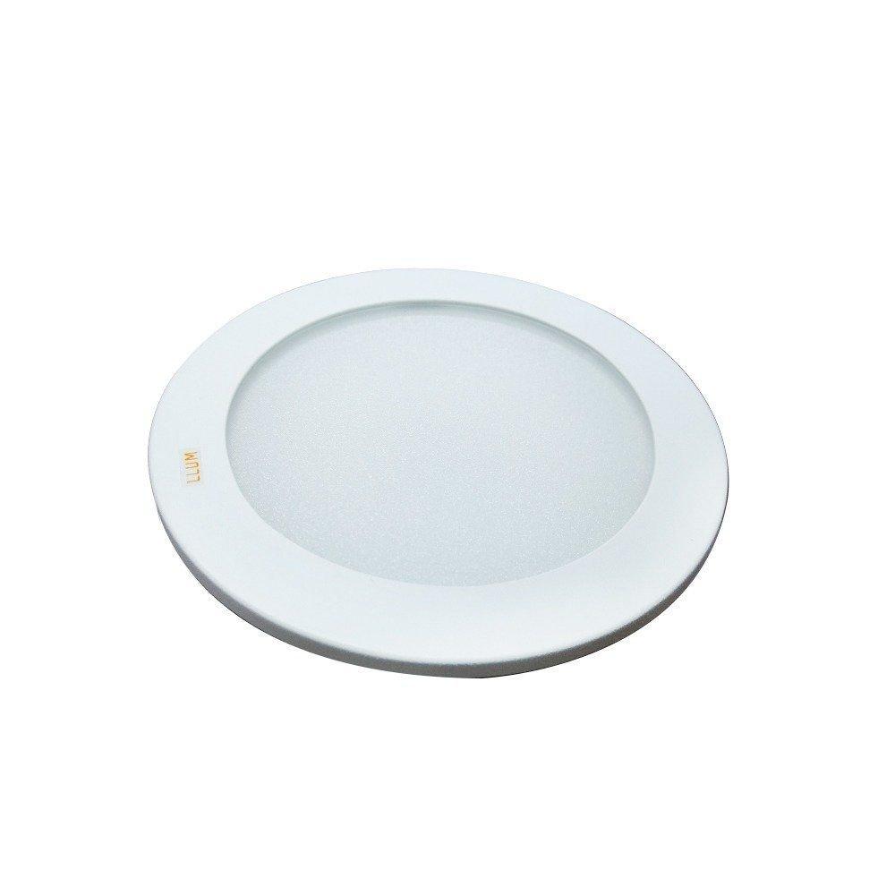 Luminária Led de Embutir Amarela Redonda LLUM - 10W 127V