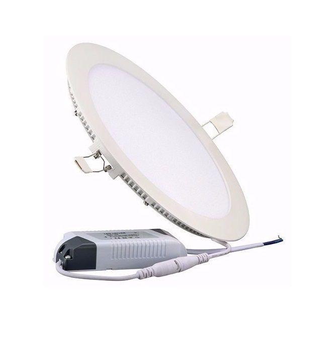 Luminaria LED Plafon Embutir Redondo 24W 6000K UP LED