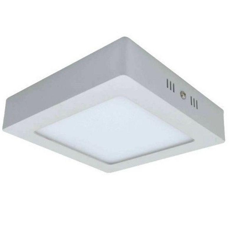 Luminaria LED Plafon Sobrepor Quadrado 12W 6000K Up Led
