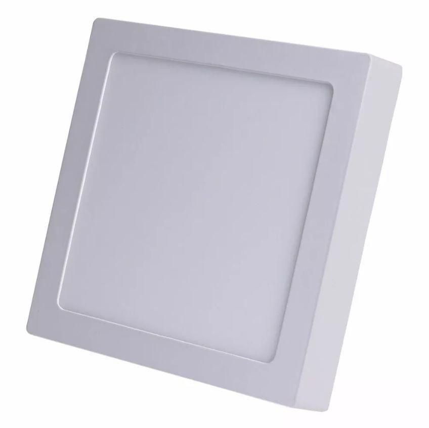 Luminaria LED Plafon Sobrepor Quadrado 18W 3000K Quente maxtel