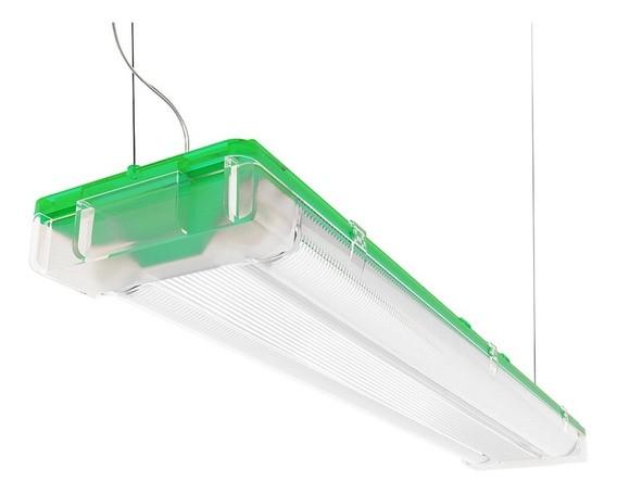 Luminária para Lâmpada Fluorescente Tubular T5 Sampa Bronzearte - 2x14W