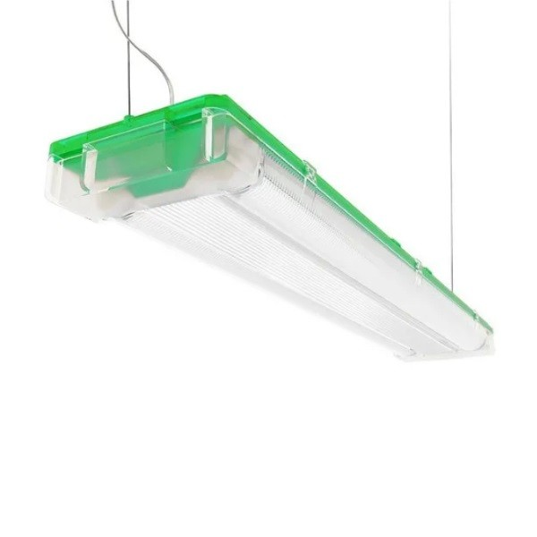 Luminária para Lâmpada Fluorescente Tubular T5 Sampa Verde Bronzearte - 2x14W