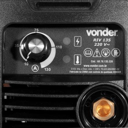Máquina De Solda Inversora Eletrodo 130a Riv135 110v Vonder