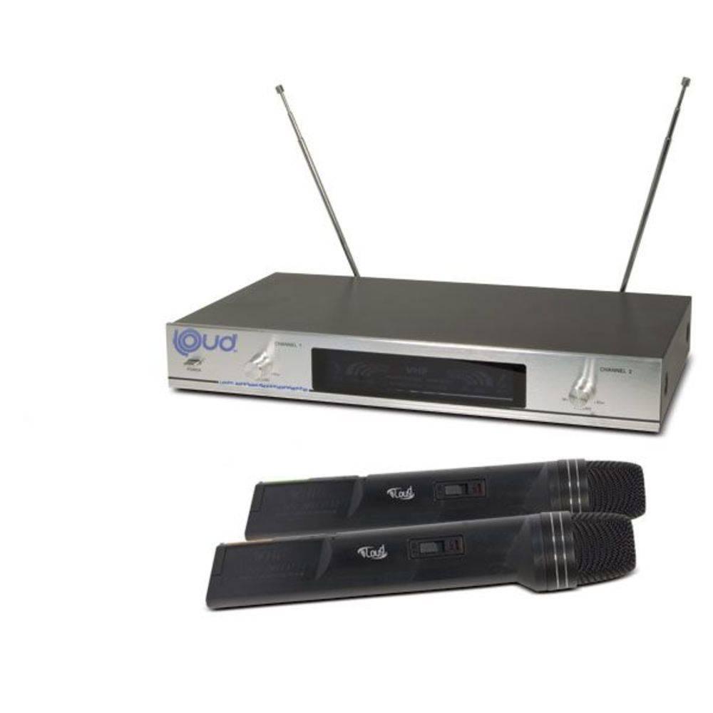Microfone Sem Fio Ld-6630 Duplo Vhf Loud