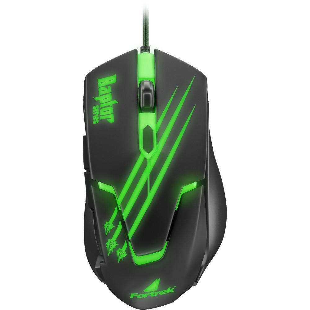 Mouse Gamer Fortrek Raptor 2400 Dpi Ajustável 6 Botões OM801