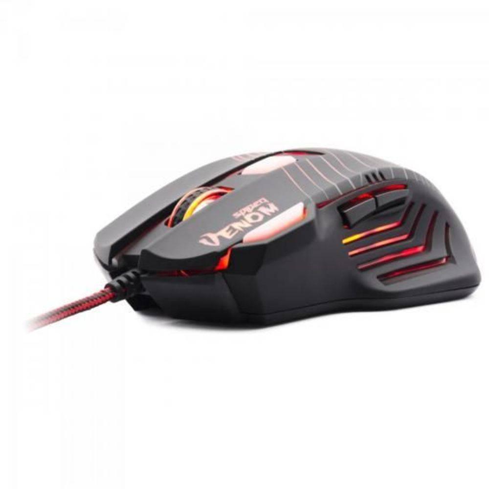 Mouse Gamer Fortrek Spider Venom Om704 2000dpi 7 Botões