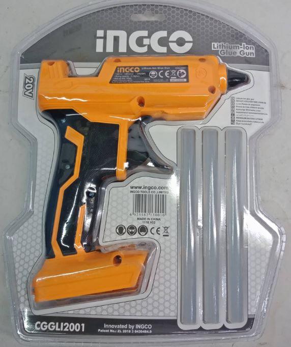 Aplicador Cola Quente 20v Profissional Industrial INGCO - Sem Bateria