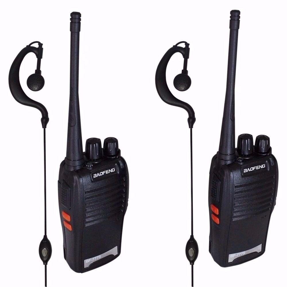 Radio Comunicador Walk Talk Baofeng BF-777S + Fone de Ouvido