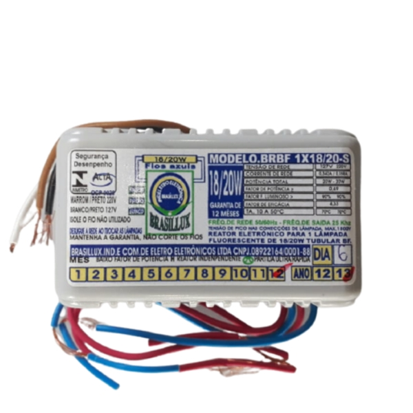 Reator Eletrônico 1x20xBiv Brasillux