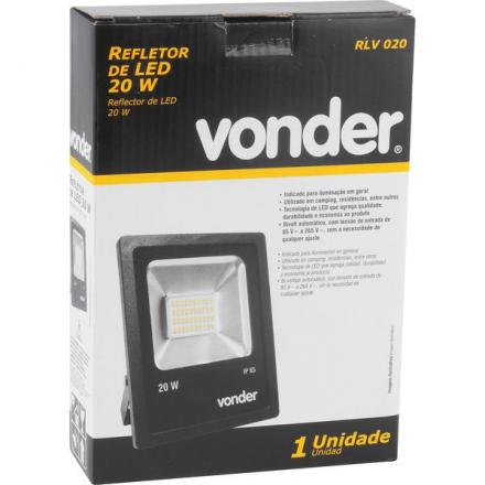 Refletor 20w Led Rlv 020 Vonder