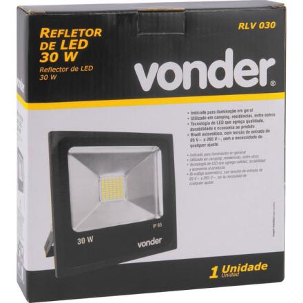 Refletor 30w Led Rlv 030 Vonder