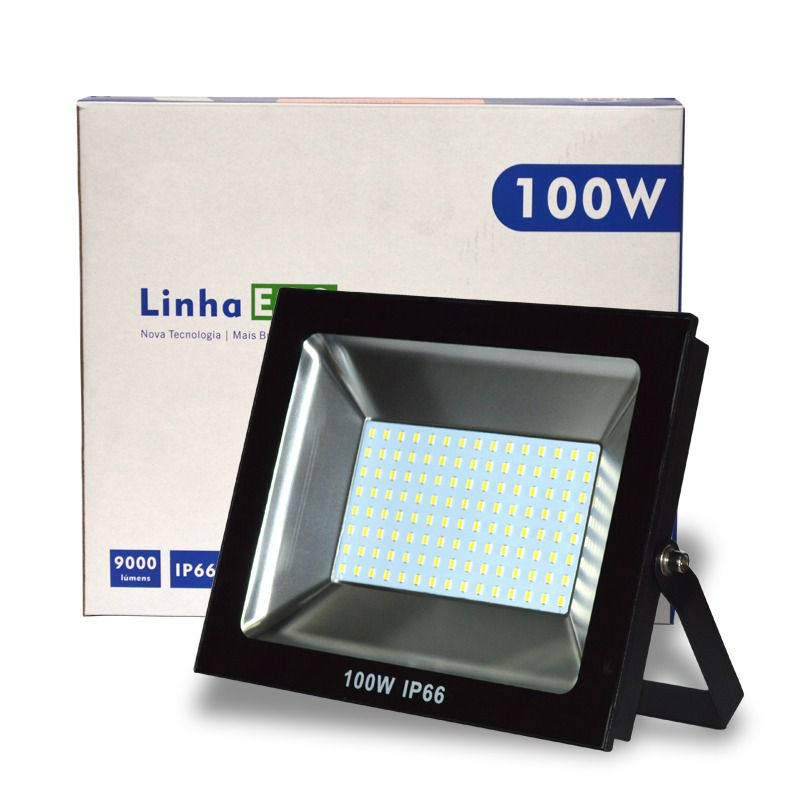 Refletor LED SMD ECO 100W Branco Frio 6500K UP LED