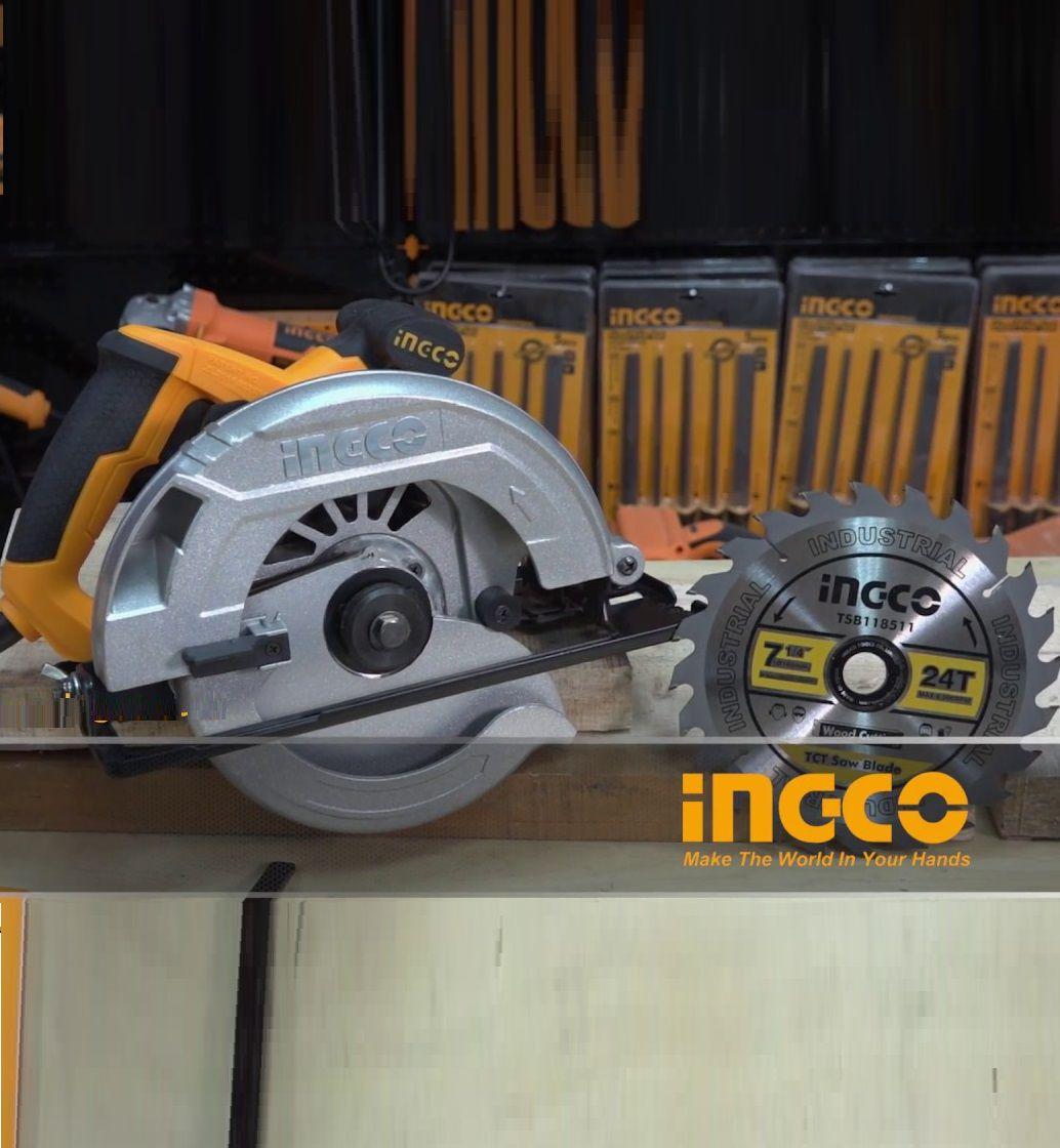 "Serra Circular De 7.1/4"" 1400w Profissional Industrial INGCO 110v"