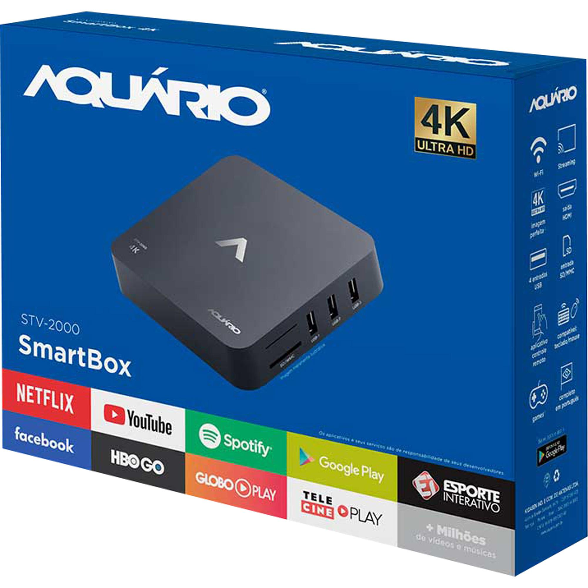 Smart Box Aparelho Transforma Sua Tv em Smart STV-2000 Aquario