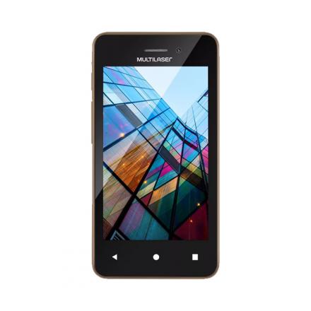 Smartphone Multilaser MS40S Preto/Dourado 4